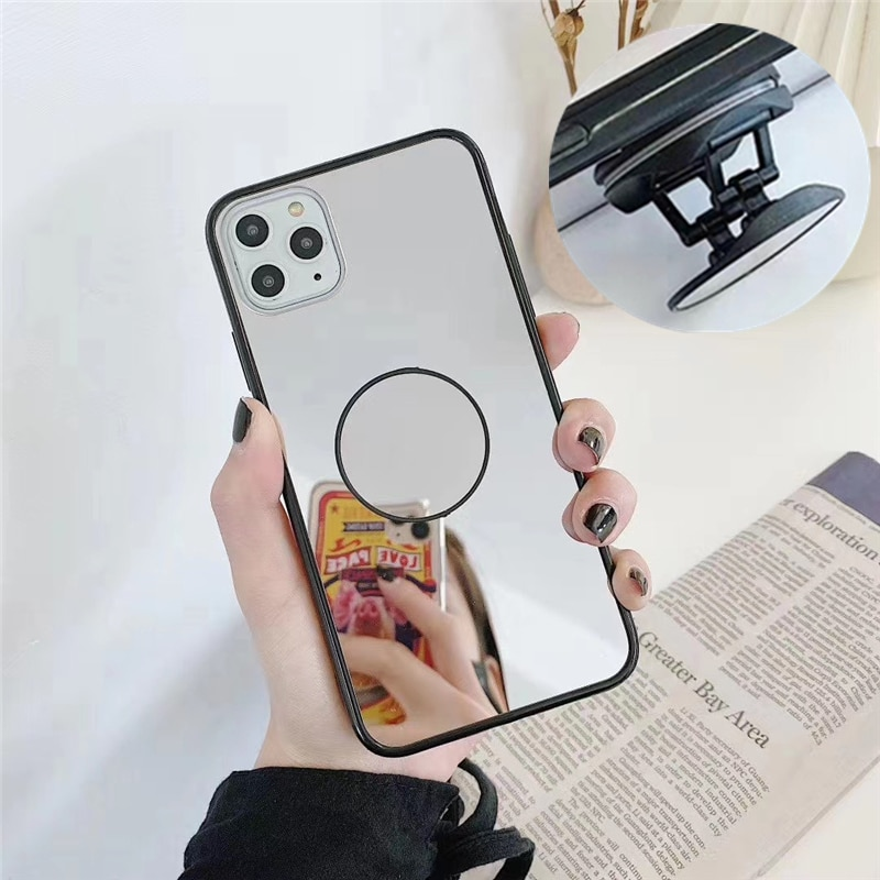 Mirror Phone Case For Samsung Galaxy S20 S10 S9 S8 S7 edge Note 8 9 10 20 Ultra Plus Expanding Phone
