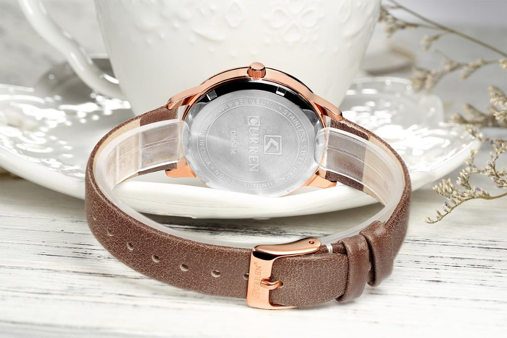 CURREN Ladies Wrist Watch 2019 Dames Horloges Casual Quartz Watches For Women Leather Strap High Quality Luxury Watch Waterproof enlarge