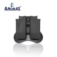 Amomax Doppel Magazin Tasche   Passt Beretta 92, Sig P226 P320,CZ P09   Toyko Marui WIR KJW KAS KWA M9 mags; CO2 Mags