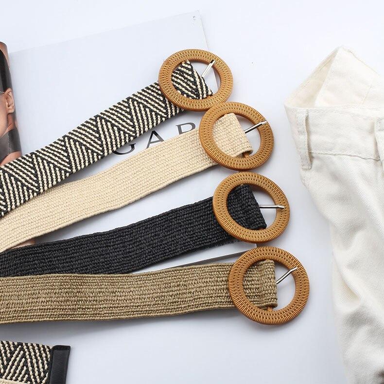 Широкий тканый ремень для женщин, ремень для джинсов, брюк, пояса, женское платье, декоративный аксессуар