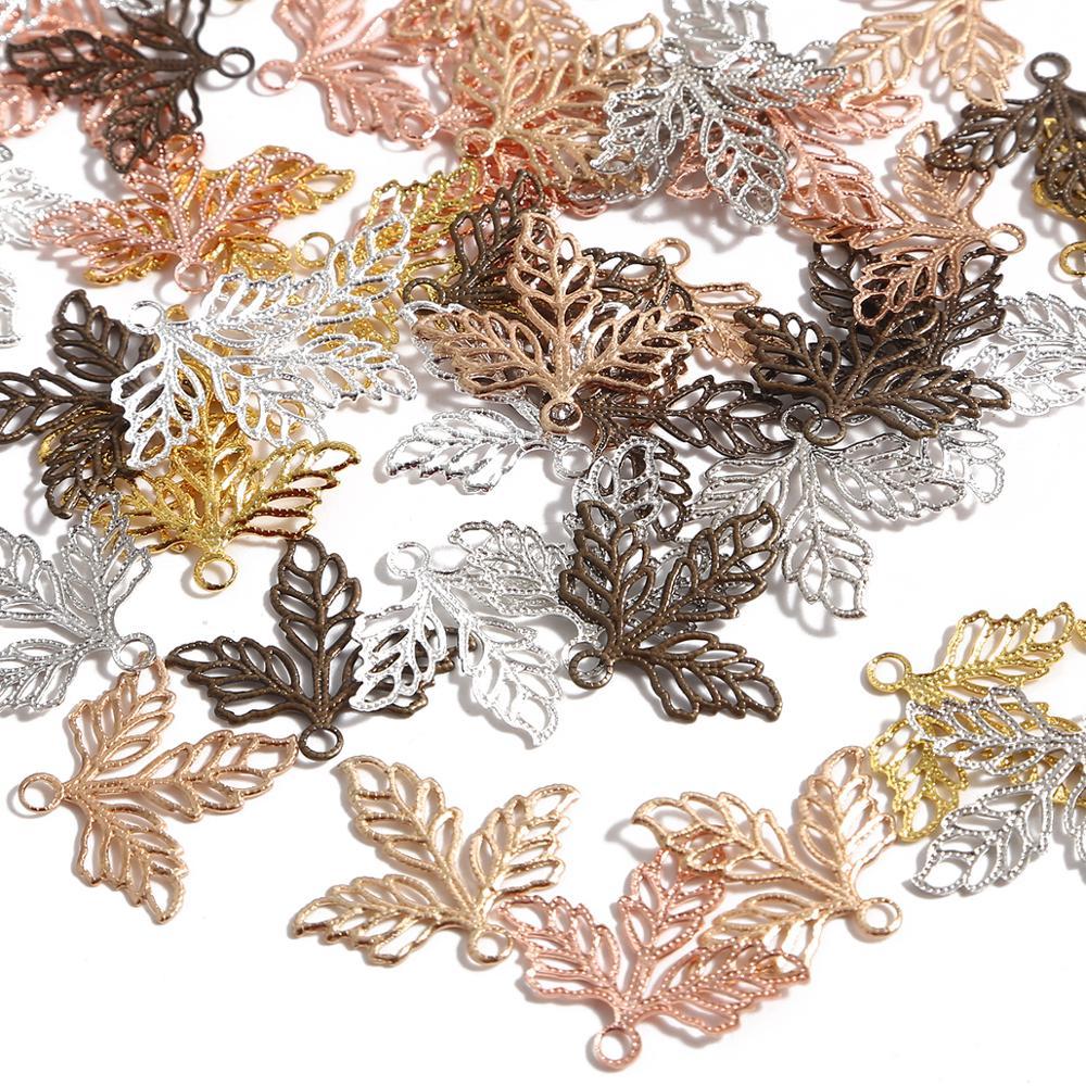 10pcs Filigree flower leaf Wraps Metal Charms For Embellishment Scrapbook DIY Jewelry Metal Craft Wr