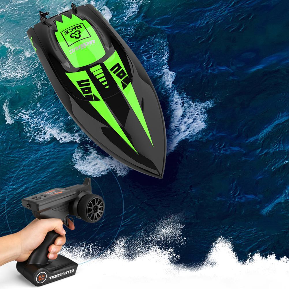 Rc navio 2.4g 40km/h sem escova de alta velocidade dupla-camada à prova dwaterproof água com sistema de refrigeração de água brinquedo presente brinquedos criança alta qualidade
