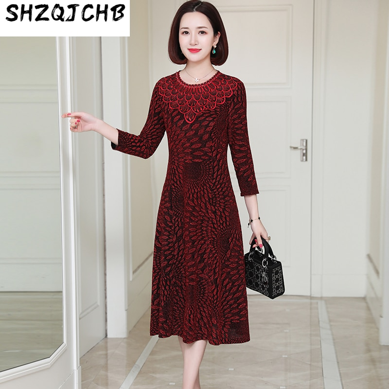 SHZQ ربيع جديد سيدة غنية النمط الأجنبي فستان القاع ، فستان زفاف سيدة مكلفة ، والأطفال