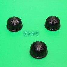 10 pièce 19*12mm bouton hémisphérique en plastique noir demi-poignée trou intérieur en forme de D 6mm potentiomètre réglage 180 ° indicateur