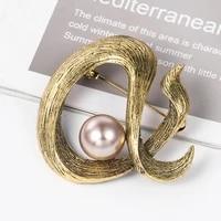 vintage original pearl brooches for men 2019 simple metal fish brooch pins women brincos jewelry wholesale
