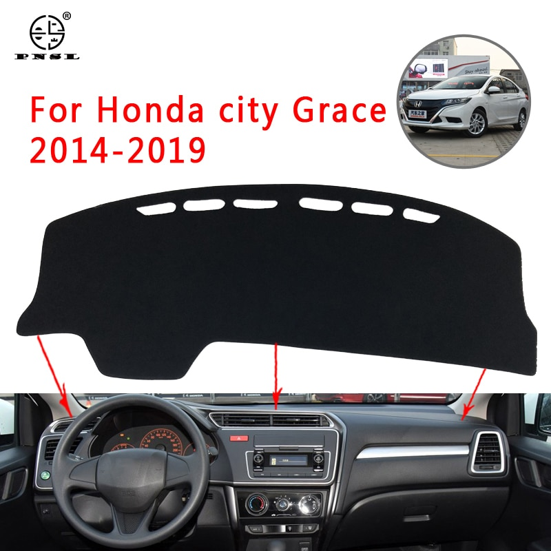Alfombrilla para salpicadero de coche PNSL alfombrilla para salpicadero para Honda city Grace 2014-2019 protección solar antideslizante antiuv