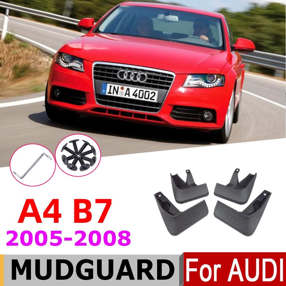 Abas de lama para audi a4 b7 sedan saloon 2008-2005 mud flaps respingo guardas mudguarda acessórios 2008 2007 2006 2005