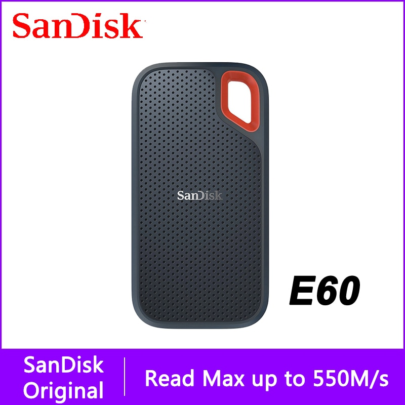 SanDisk External Portable SSD USB Type-C 500GB External Hard Drive 2TB External Ssd 2tb Pen Drive 500M/S Laptop Desktop For PC