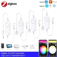 5 24v zigbee 3 0 dwcctrgbrgbwwrgbcct led light strip wireless remote controller for tuya alexa smartthings hue zigbee2mqtt