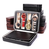 mens portable watch storage box travel zipper necklace bracelet organizer earrings ring cosmetics collection case accessories