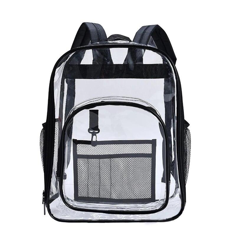 Водонепроницаемый прозрачный рюкзак, прозрачный рюкзак высокого качества, вместительный рюкзак, однотонный прозрачный рюкзак