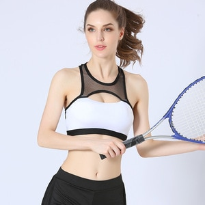 2020 NEW Sports Bra Top for Fitness Women Push Up Yoga Running Gym Femme Active Wear Padded Underwear Crop Tops Female Plus size