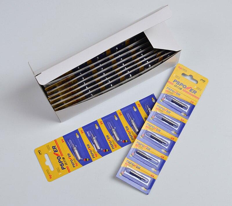 100pcs/lot Luminous Fishing Float Batteries CR425 CR435 CR311 CR322 Unrechargable Pin Cell Battery 3V Fishing Tackle J344