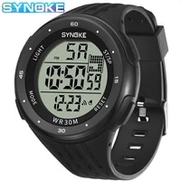 synoke outdoor sports men digital watches casual luminous waterproof large dial shockproof watch chronograph relogio masculino