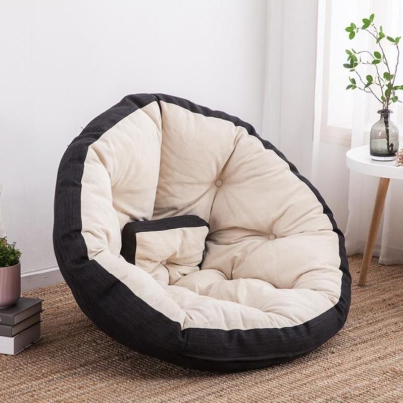M8 cómodo sofá perezoso solo frijol bolsa moderna minimalista reclinable pequeño apartamento dormitorio chica Linda Tatami Sala sofá