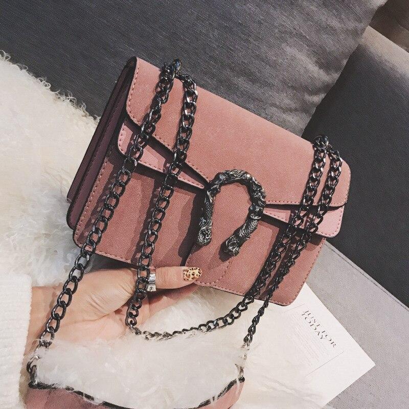 Projektant frosted chain pouch 2020 nowa koreańska moda PU damska torba prosty spersonalizowany dziki jedno ramię torba kurierska