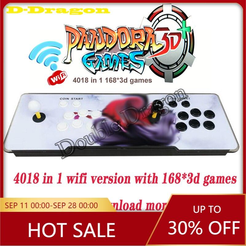 Free shippingPandora 3D Retro Arcade Box 4018 in 1 console Save Function Zero Delay support online connection WIFI download game