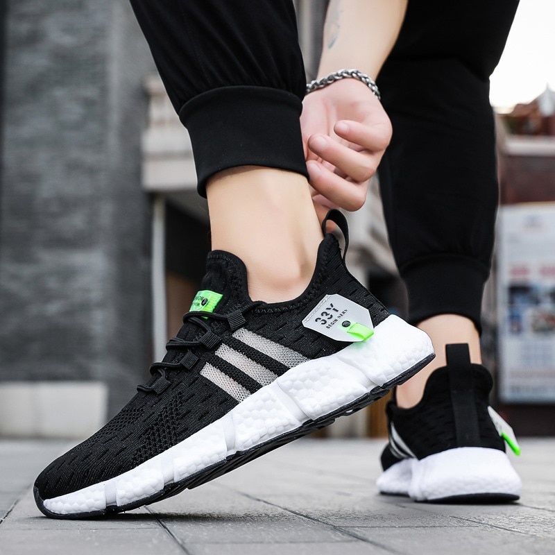 Designer Men Casual Shoes Brand Fly Weave Sport Shoes Men Sneakers Male Plus Size Athletic Training Walking Shoes Zapatos Hombre