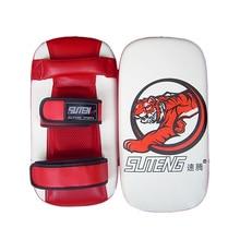 Bolsa de arena para boxeo y boxeo de piel sintética SUTEN, almohadilla de entrenamiento para objetivo de pie para patadas boxeo Taekwondo, a prueba de golpes, objetivo de pie de tigre