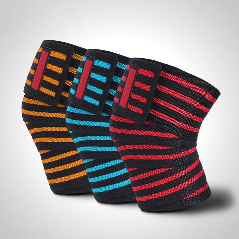 High Quality 2pcs Squat Leg Binding Kneepad Sport Ware Mens Fitness Weightlifting Kneepad TK-ing