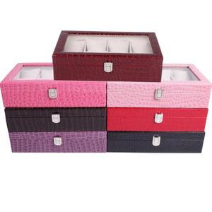 8 Grid Velvet With Glass Jewelry Packaging Boxes For Ring Earrings Colar Jewelry Organizer Storage Joyeros Organizador de joyas