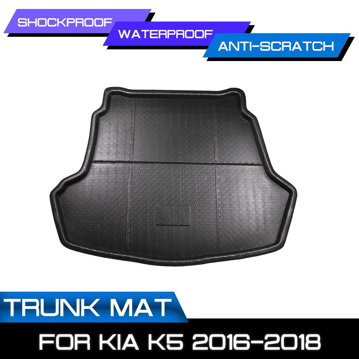 سيارة الخلفي الجذع مكافحة الطين غطاء سجادة أرضية لكيا K5 2016 2017 2018