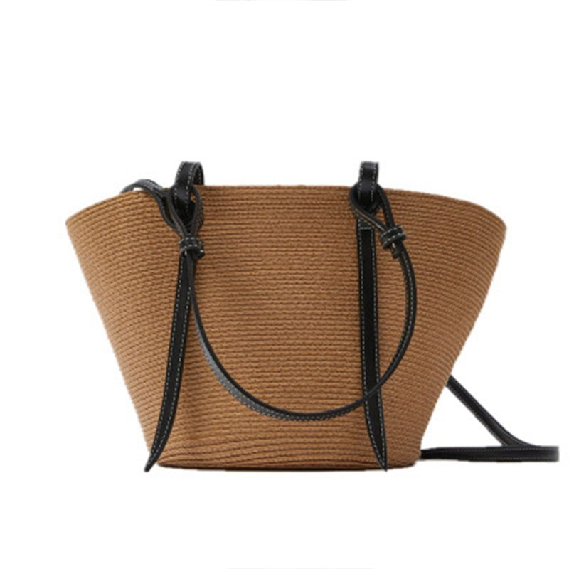 2021 Straw Bag Women Handbag Bohemia Beach Bags Handmade Wicker Summer Tote big Bags Rattan Shoulder Messenger Bags