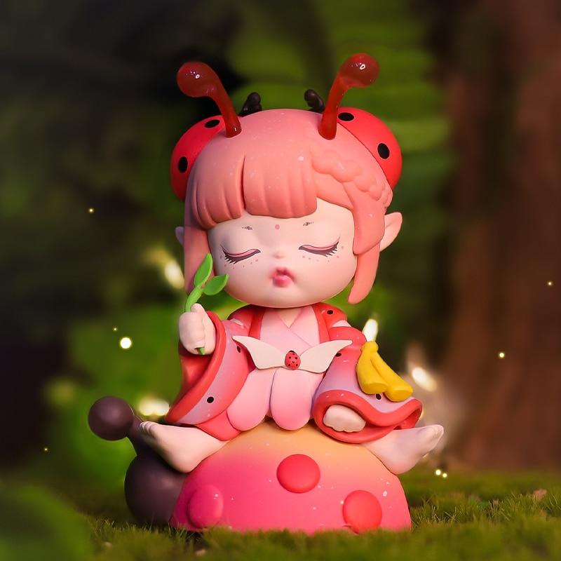 Cute Cartoon Doll Model Catching Insect Series Kawaii Toy Blind Random Box Birthday Gift