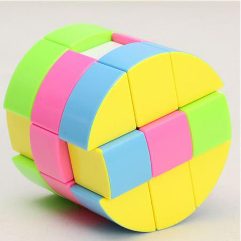 new 3x3 torsion magic cube magnetique coloful twisted cube puzzle toy stickerless puzzles colorful educational toy bandaged cube ZCUBE Cloud 3-layer Cylinder 3x3 Magic Cube layer Cylinder speed Cube Puzzle Toy Colorful Mind Games Educational Toys for Boys
