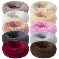 40cm50cm60cm70cm80cm super soft dog bed house plush kennel pets dog cat beds for small medium large dogs cats washable