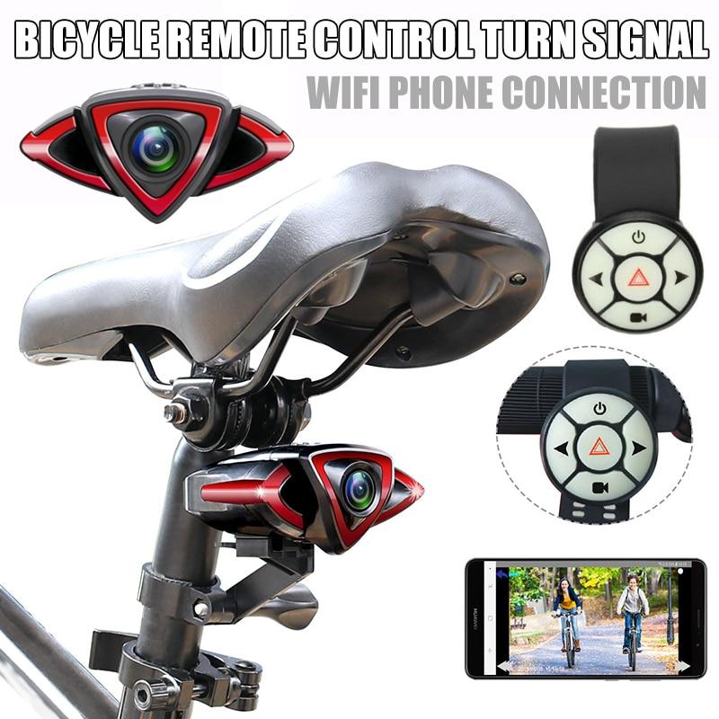 Cámara de ciclista con vista nocturna y WiFi, cámara para bicicleta DVR, grabadora de vídeo para ciclismo, suministros para bicicleta DJA99