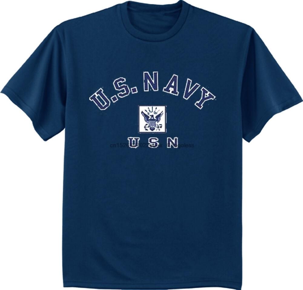 Camiseta grande e alto masculino usn estados unidos da marinha dos eua camiseta grande e alto azul