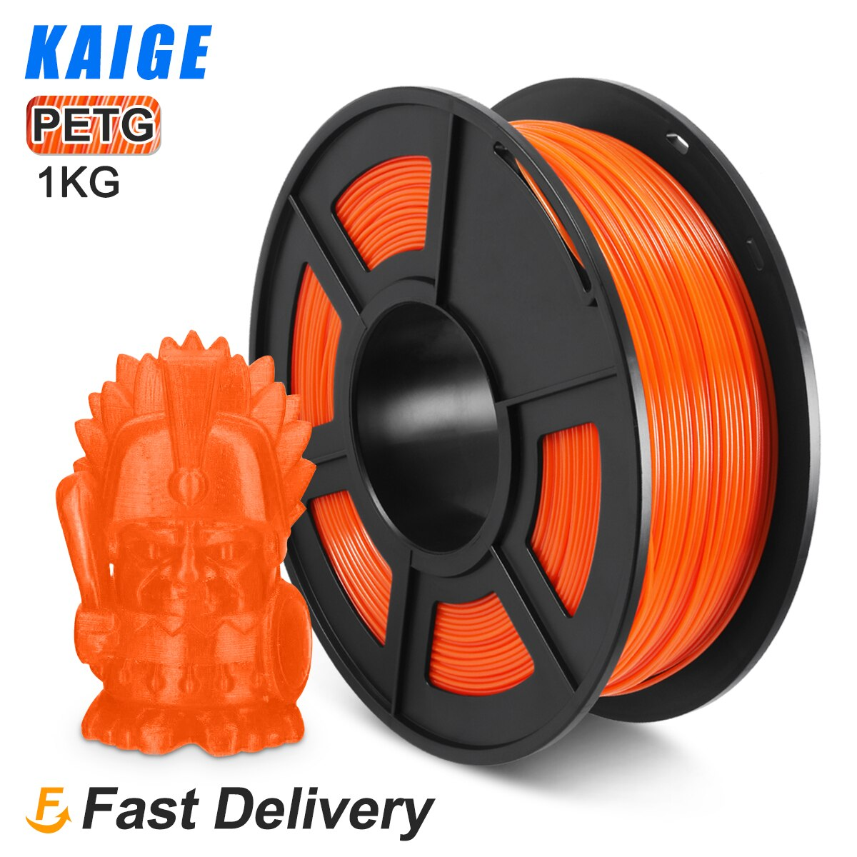 KAIGE PETG 1kg 1.75mm Orange 3D Printer Filament petg 1KG petg пластик 1 кг Tolerance -/+0.02 Good acid and alkali resistance