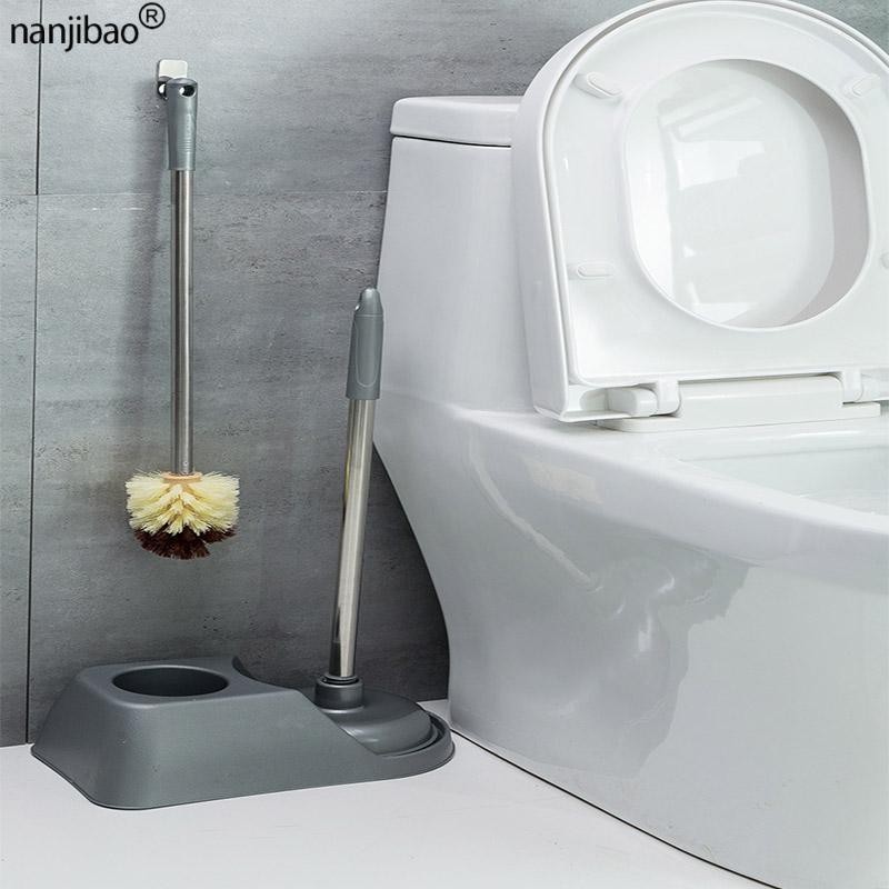 Household long-handled toilet brush toilet dredging set WC washing brush toilet dredging no dead end Bathroom cleaning brush enlarge