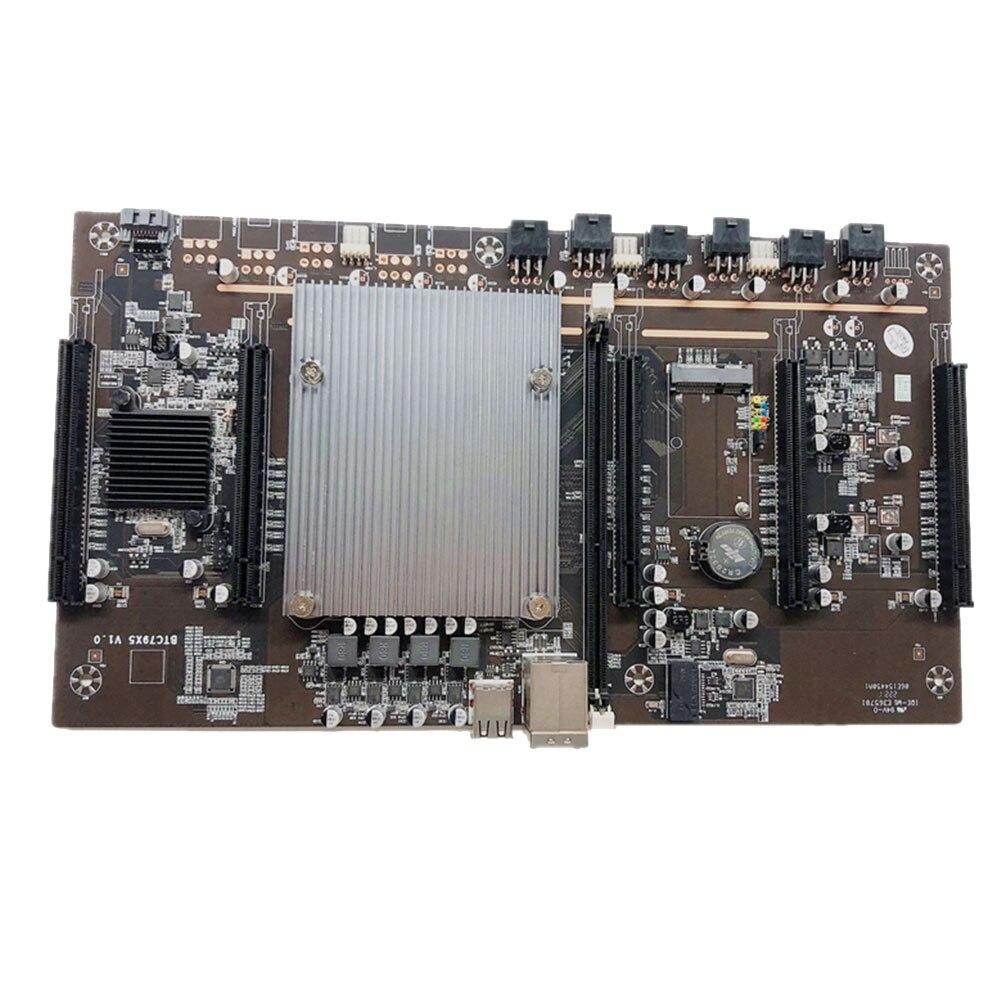 BTC X79-H61 Miner Motherboard LGA 2011 E5 2620 DDR3 5x PCI-E 8X  MSATA3.0 Mining BTC Motherboard With Intel H61 Support 3060 GPU