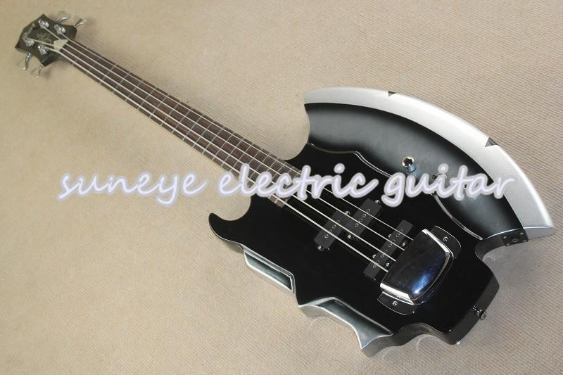 Guitarra de Bajo Eléctrico de 4 cuerdas, accesorio de tienda personalizada, con...