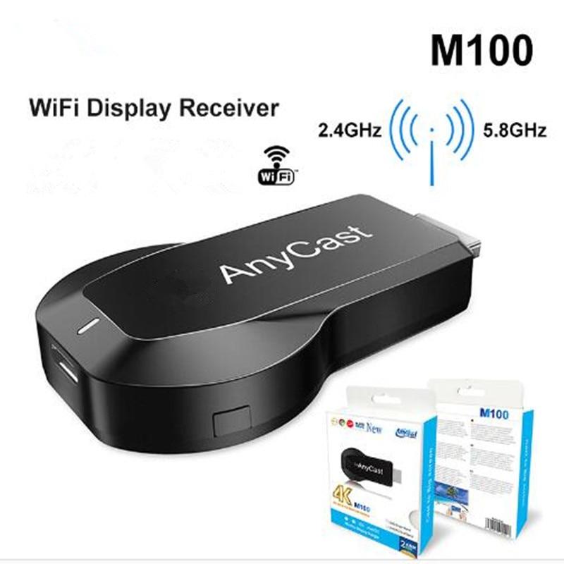 Anycast M100 2.4G/5G 4K Miracast Any Cast Wireless DLNA AirPlay TV Stick Wifi Display Dongle Receive