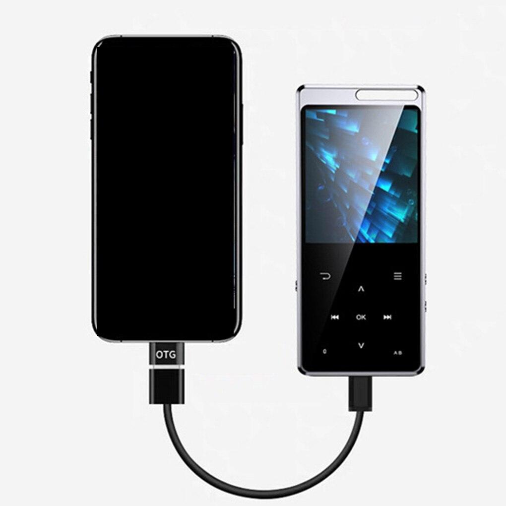 Reproductor MP3 Bluetooth de 8/16G, pantalla táctil de 2,4 pulgadas APE/FLAC/WAV, sonido sin pérdidas de alta calidad, reproductor de música MP3