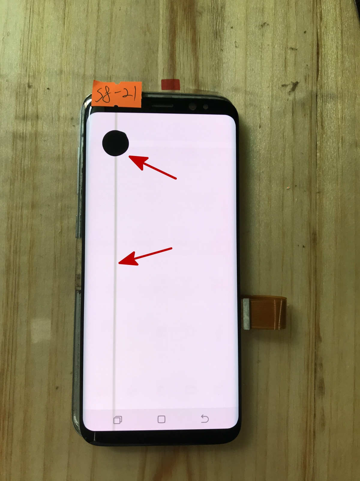 Super AMOLED Screen For Samsung Galaxy S8 G950F G950A G950FD Black Spot Lcd Display Touch Screen Digitizer enlarge
