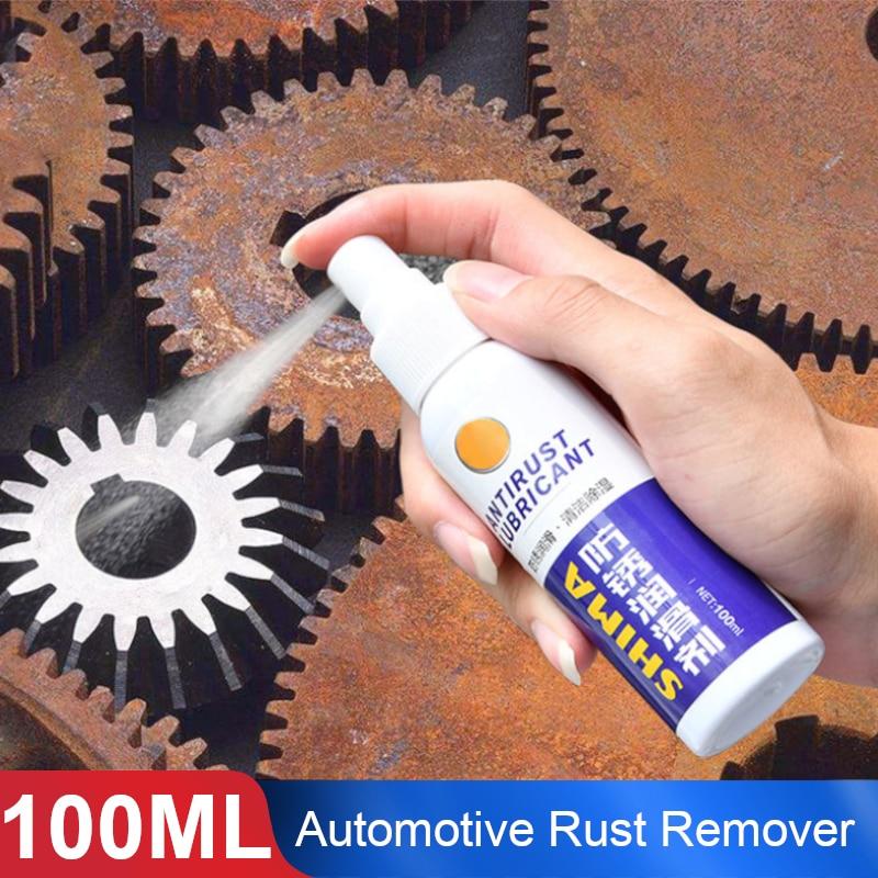 Vehemo, 100 ml, inhibidor eliminador de óxido para coches, lubricación por pulverización, piezas de Metal prácticas, cubo de rueda, tornillo eliminador de óxido, limpieza