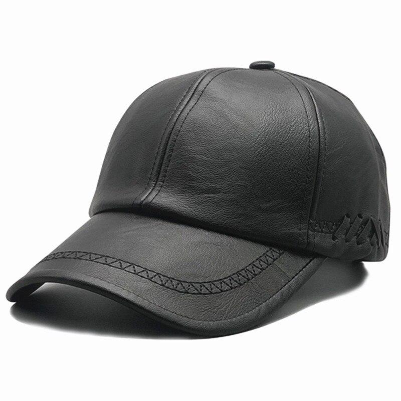 Модная бейсболка из искусственной кожи на осень и зиму, новинка, спортивные кепки для отдыха на открытом воздухе, теплые мужские кепки для м...