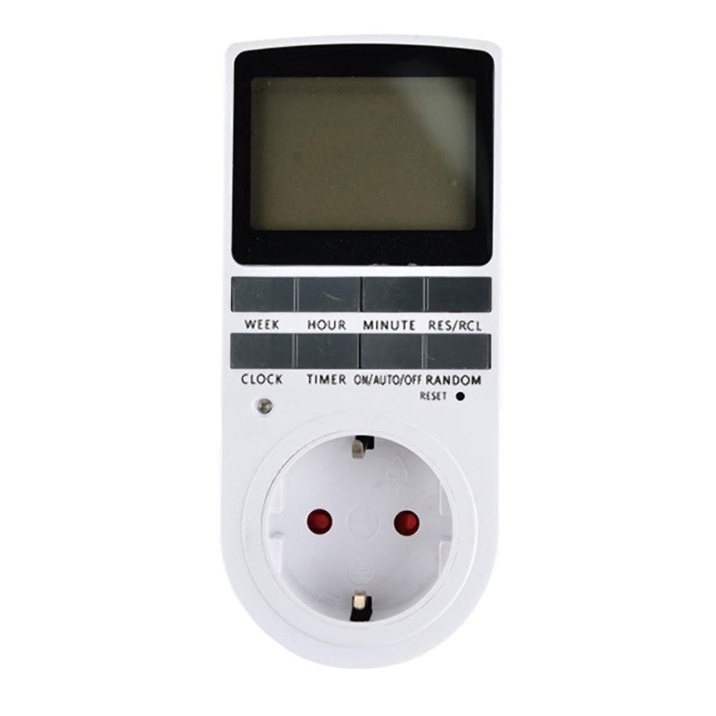 Mini LCD Digital 230V 16A temporizador interruptor hembra enchufe en Control de tiempo para la cocina aparato eléctrico enchufe de la UE con Colock