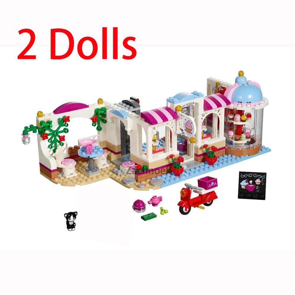 460 pçs cidade meninas café cake shop modelo amigo blocos de construção conjuntos compatíveis 41119 amigos tijolos crianças brinquedos clássicos presentes