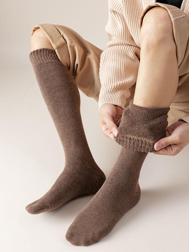 3 пары, мужские зимние хлопковые носки до колен
