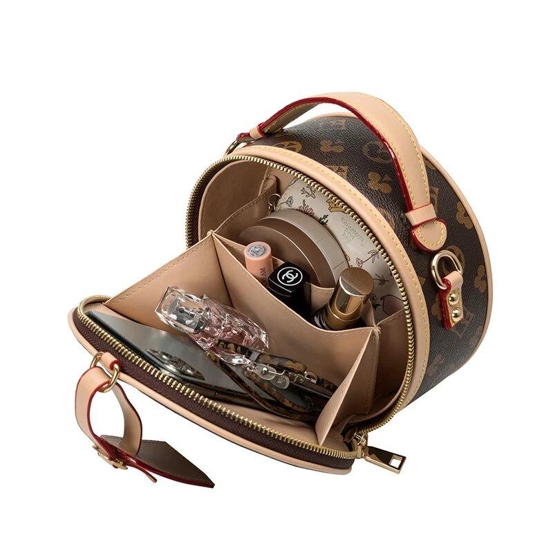 Small Vintage Printed Round Bags for Women 2020 Classic Women Handbags Female Shoulder Bags Designer Bags Famous Brand Women Bag