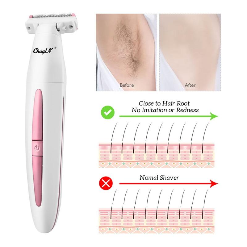 الكهربائية النساء ماكينة حلاقة الحلاقة الوجه الجسم الساق الذراع الخلفي بيكيني المتقلب Lday قابل للغسل USB قابلة للشحن إزالة الشعر ماكينة حلاقة