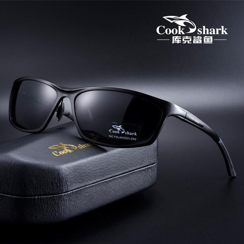 Cook Shark 2020 new sunglasses men's sunglasses polarized driving driver hipster aluminum magnesium mirror
