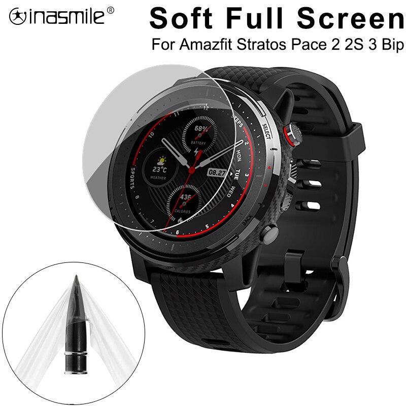 5 /3 /1 PCS Weiche Full Screen Protector Smart Uhr Für Xiaomi Huami Amazfit Stratos 2s Tempo bip Band 2 Rande GTR 3 Film Abdeckung