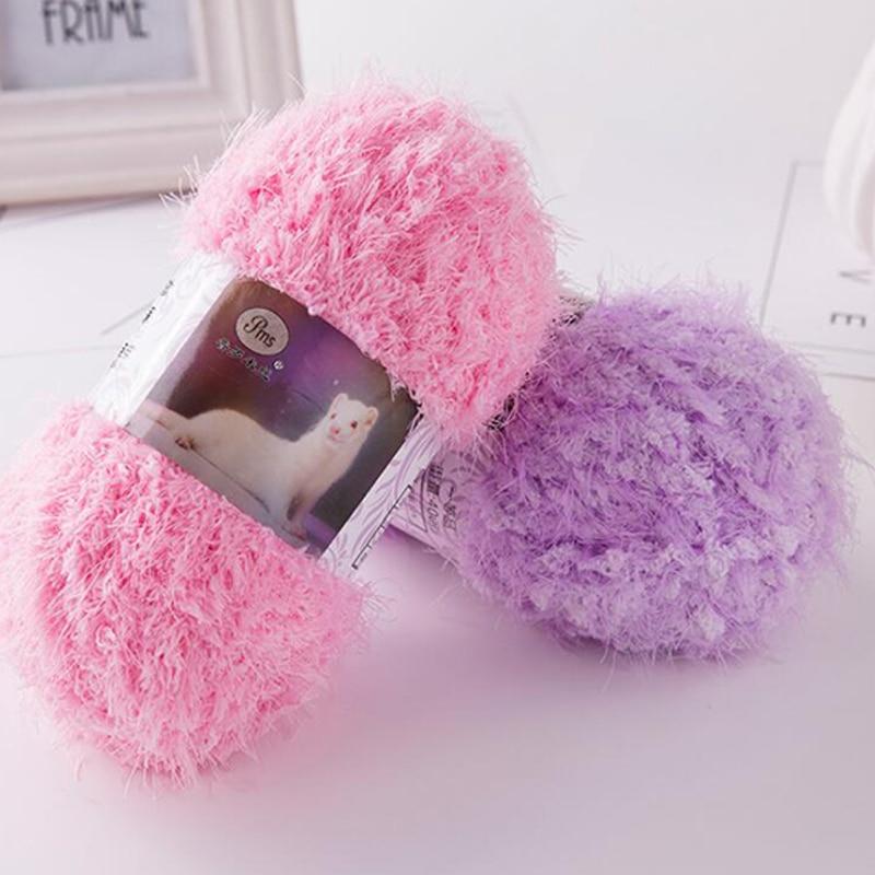 100G/ball Milk Wool Cashmere Yarn Chunky Fluffy Fur Mohair Thick Yarn For DIY Hand Knitting Crochet Sweater/Hat