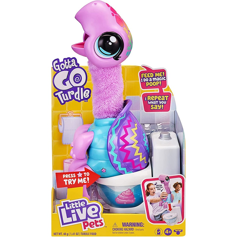 Little Live Pets Pooping Gotta Go Shelbert Turdle Interactive Entertaining Soft Plush Toy With Sounds Music Animal Cute Children